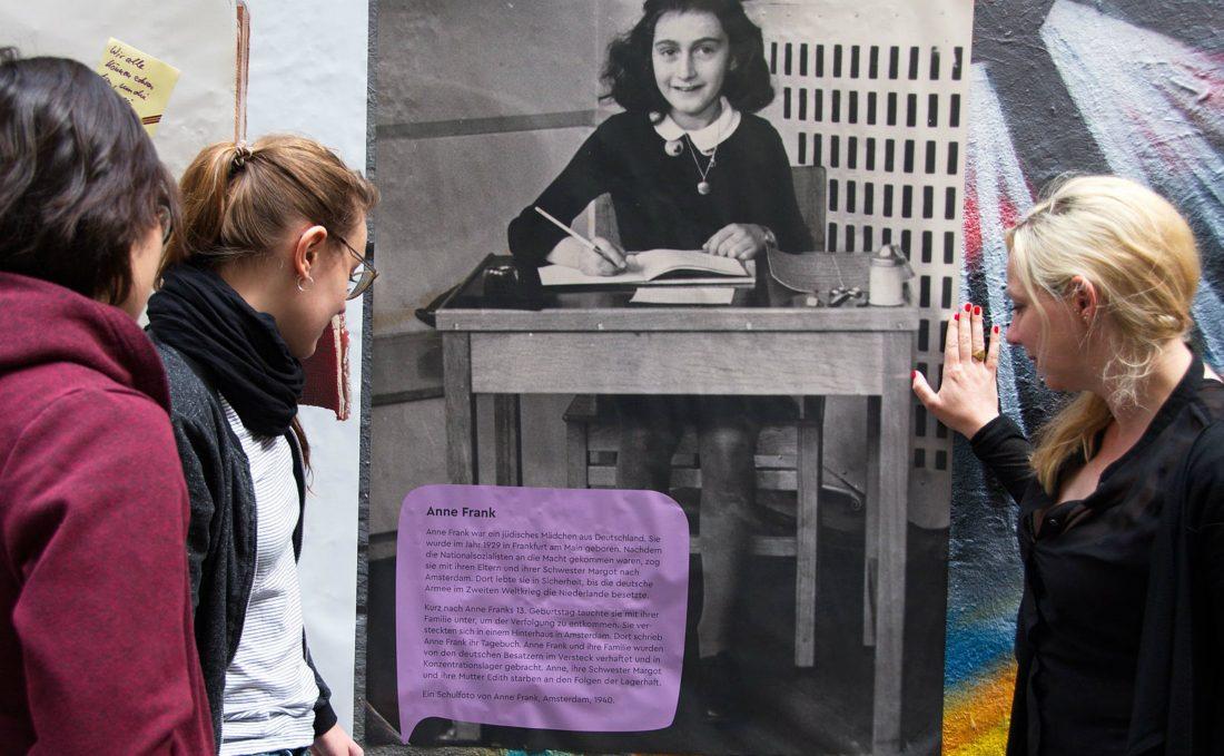 Schüler*innen am Anne Frank Tag 2017