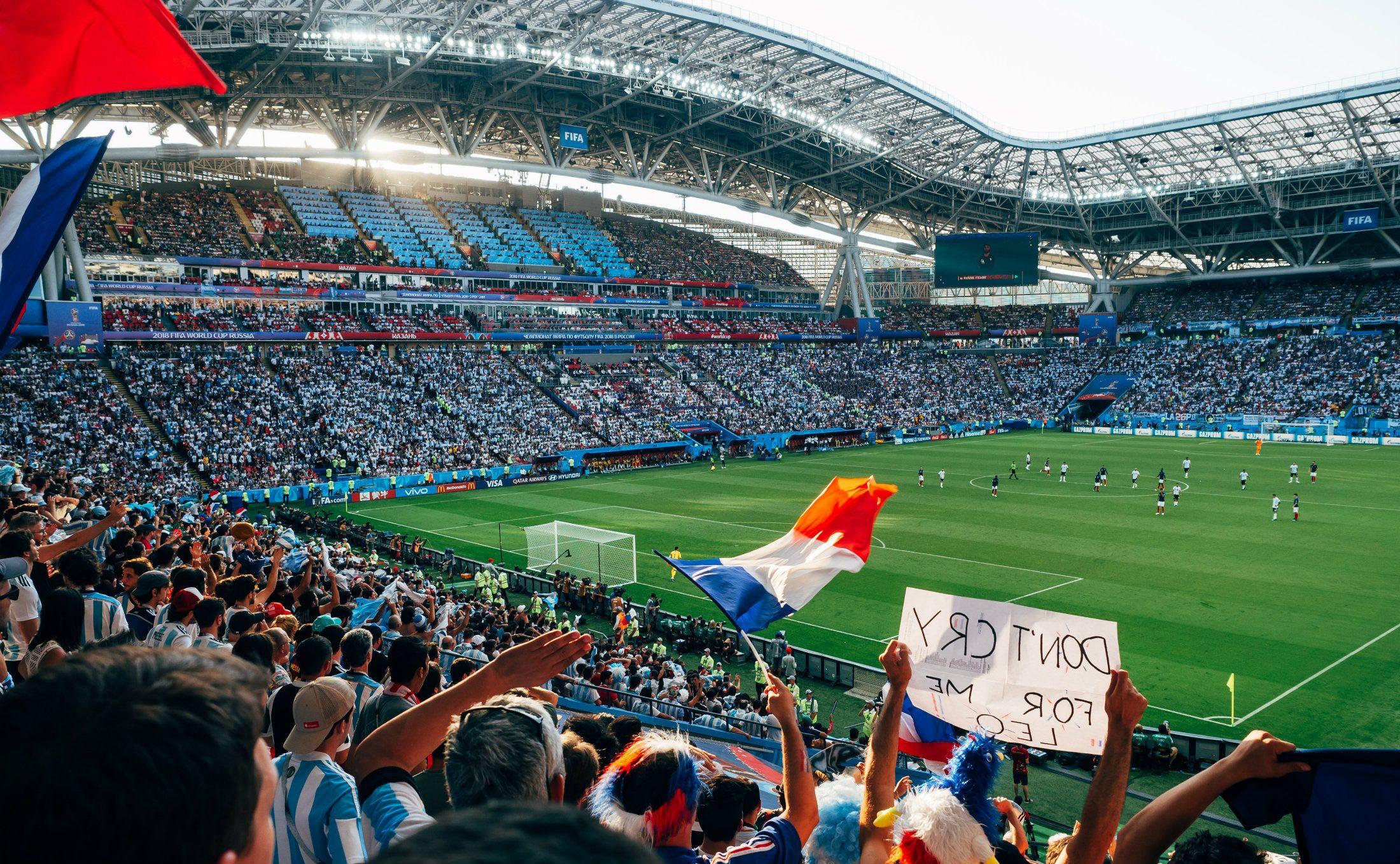 Französische Fans bei der Fußball-WM in Russland