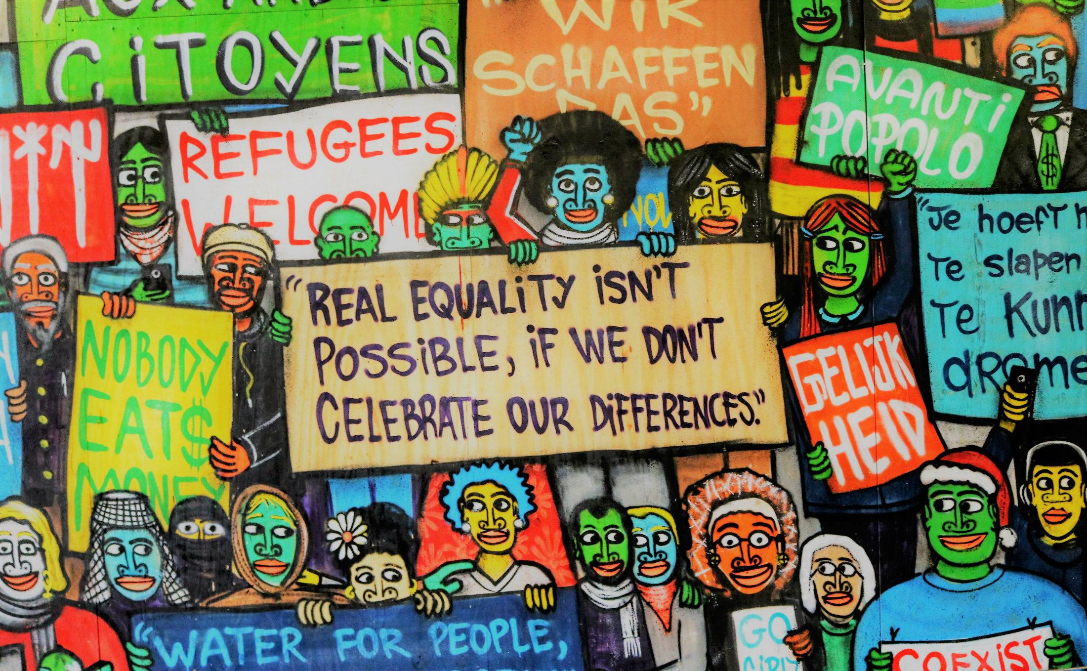 Protest gegen Rassismus und Diskriminierung